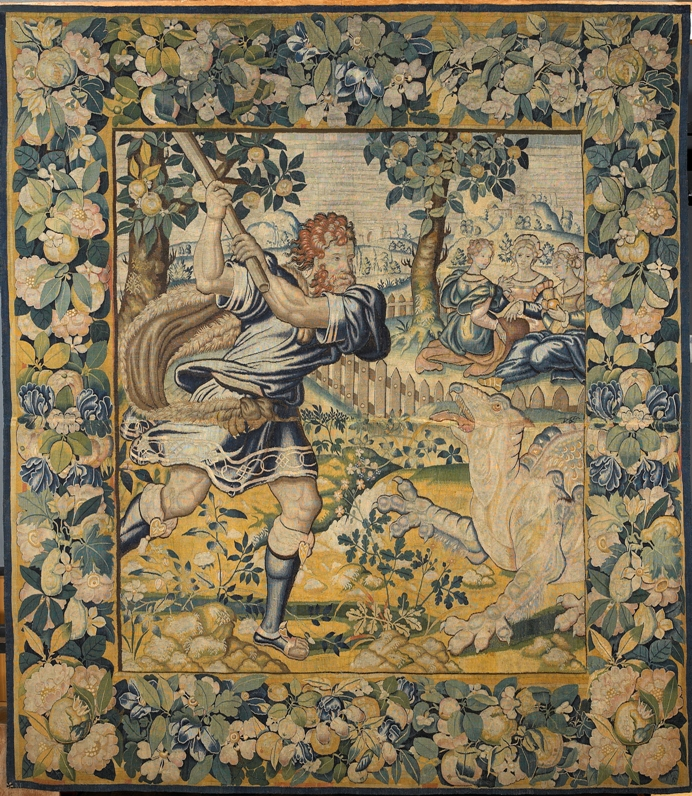 Hercules killing the dragon in the garden of the for Jardin hesperides
